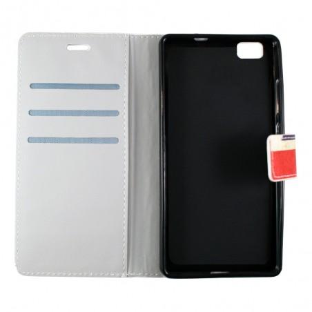 Etui Huawei P8 Lite motif Drapeau UK grainé - Crazy Kase