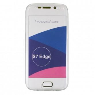 Coque Galaxy S7 Edge protection 360 ° Transparente souple - Crazy Kase