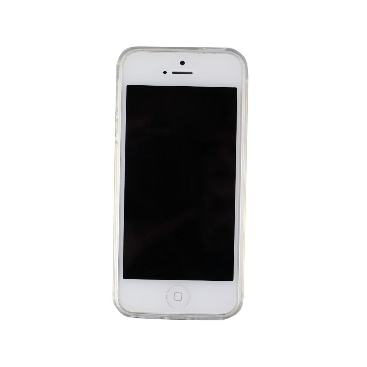 Coque iPhone SE / 5S / 5 Transparente souple - Film en verre trempé inclus - Crazy Kase