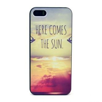 Coque pour iPhone SE / 5S / 5 motif here comes the sun- Crazy Kase