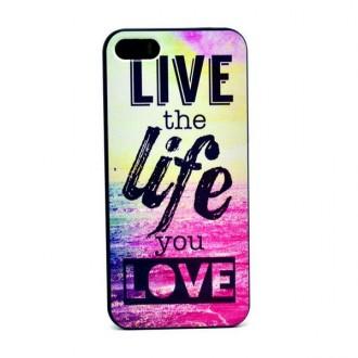 Coque pour iPhone SE / 5S / 5 motif Live the life - Crazy Kase