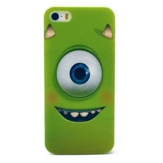 Coque pour iPhone SE / 5S / 5 motif oeil cartoon vert - Crazy Kase