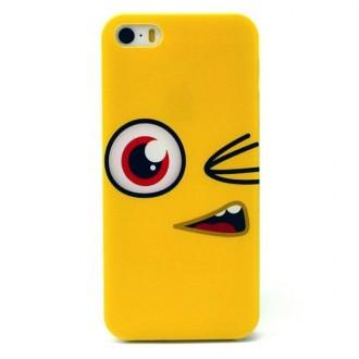 Coque iPhone SE / 5S / 5 motif oeil cartoon jaune - Crazy Kase