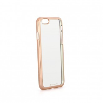 Coque iPhone 6S Plus / 6 Plus Transparente contour doré - Goospery