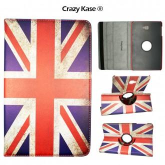 Etui Samsung Galaxy Tab A 10.1 (2016) Rotatif 360° Motif Drapeau UK vintage - Crazy kase