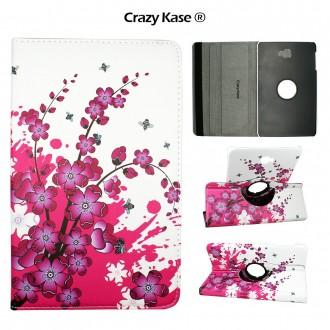 Etui Samsung Galaxy Tab A 10.1 (2016) Rotatif 360° Motif Fleurs japonaises - Crazy kase