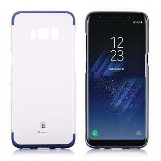Coque Galaxy S8 Transparente contour Bleu - Baseus