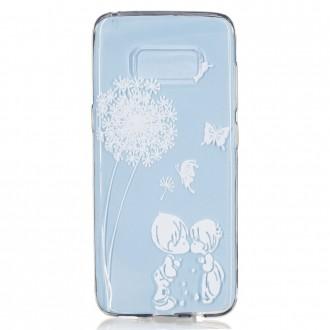 Coque Galaxy S8 Transparente souple motif Fleurs et Papillons Blancs - Crazy Kase