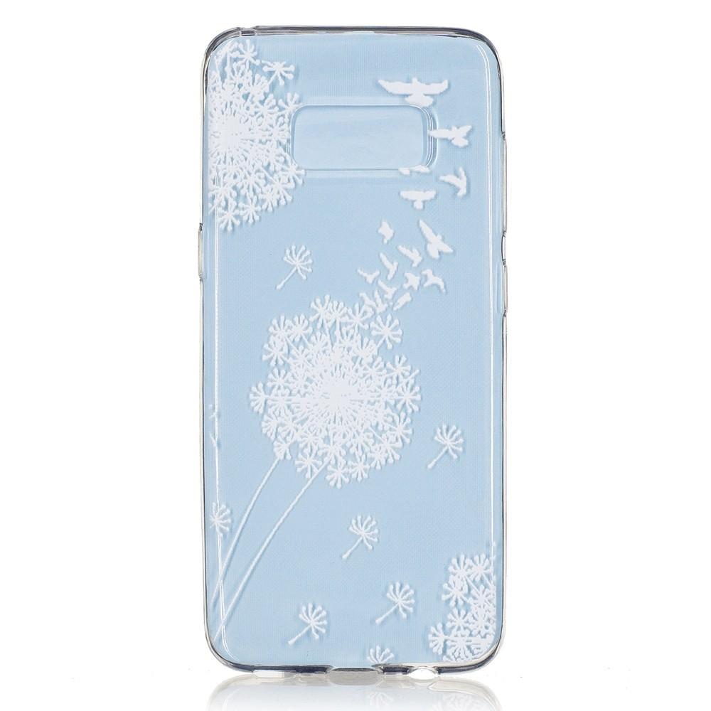 Coque Galaxy S8 Transparente souple motif Fleurs Blanches - Crazy Kase