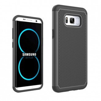 Coque Galaxy S8 Plus Anti-choc et Bi-matière Noire - Crazy Kase