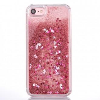 Coque iPhone 8 / iPhone 7 à Paillettes et Etoiles Roses - Crazy Kase