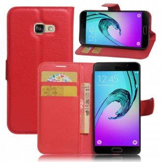 Etui Galaxy A3 (2017) grainé rouge - Crazy Kase