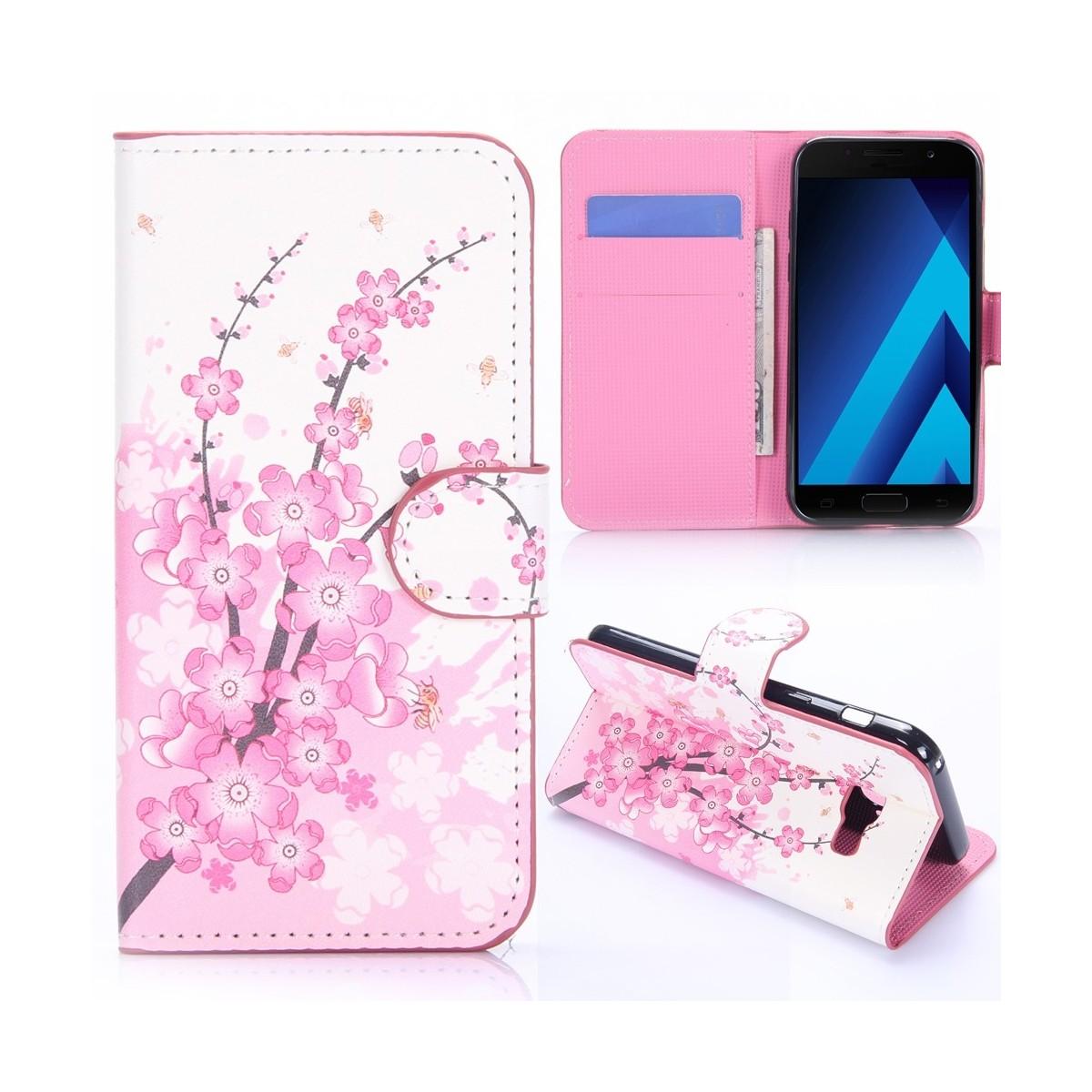 Etui Galaxy A3 (2017) motif Fleurs Japonaises - Crazy Kase