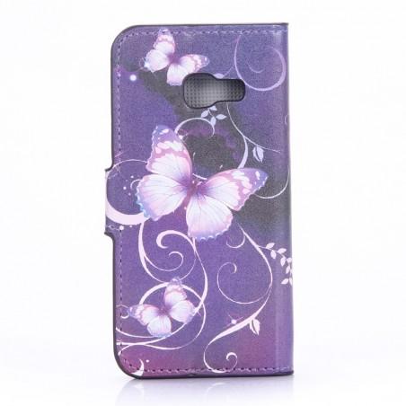 Etui Galaxy A3 (2017) motif Papillons Violets - Crazy Kase