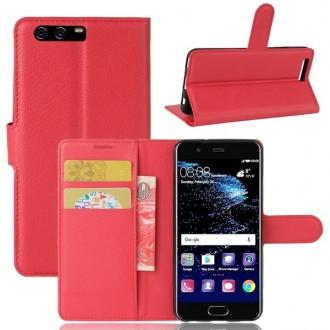 Etui Huawei P10 grainé rouge - Crazy Kase