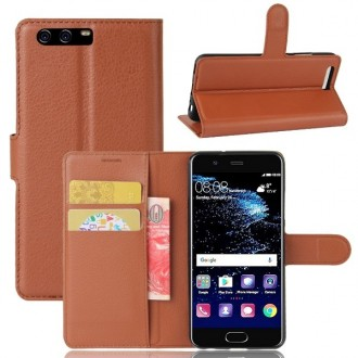Etui Huawei P10 grainé marron - Crazy Kase
