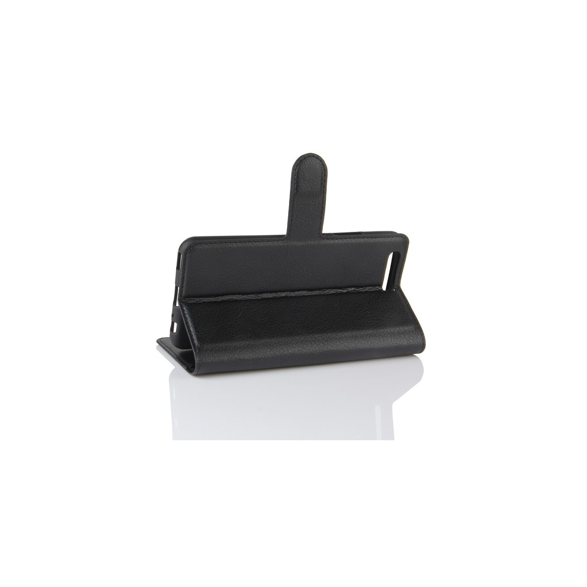 Etui Huawei P10 grainé noir - Crazy Kase