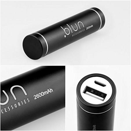 Batterie de secours Noire 2600 mAh petit câble micro usb inclus - Power Bank Blun