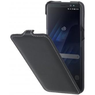 Etui Galaxy S8 UltraSlim noir nappa en cuir véritable - Stilgut