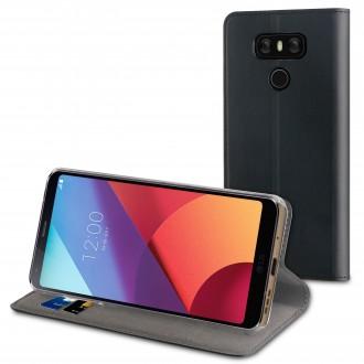 Etui LG G6 Porte cartes Noir - Muvit