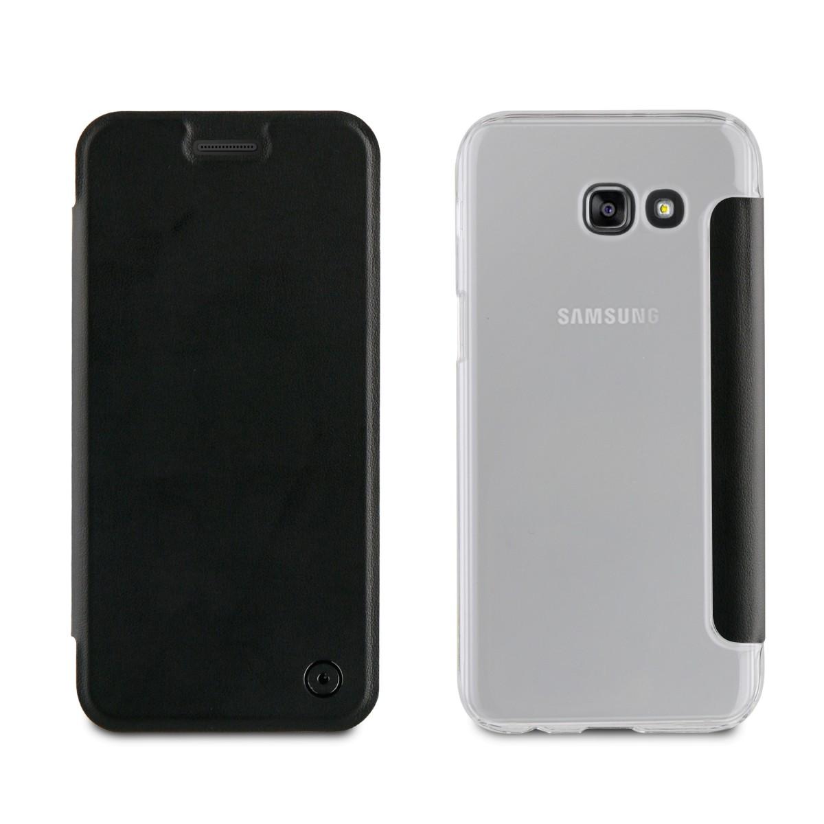 Etui Galaxy A5 (2017) Folio Noir - Muvit