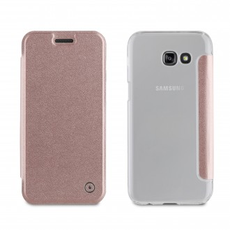 Etui Galaxy A5 (2017) Folio Rose Gold - Muvit