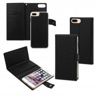 Etui iPhone 7 Porte-cartes Noir et coque aimantée - Muvit