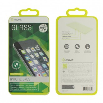 Film iPhone 6 / 6s protection écran verre trempé - Muvit