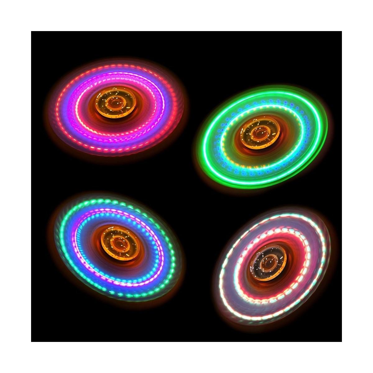 Hand Spinner Orange Transparent à LED