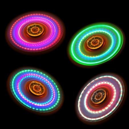 Hand Spinner Transparent à LED