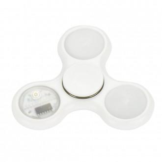 Hand Spinner Blanc à LED
