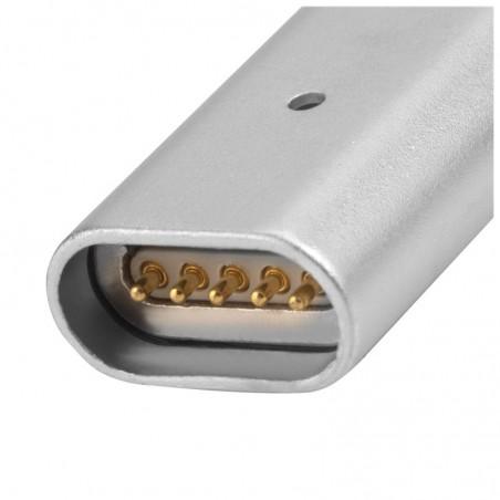 Câble USB vers connecteurs Lightning et Micro USB magnétiques Gris 1 mètre - 4smarts
