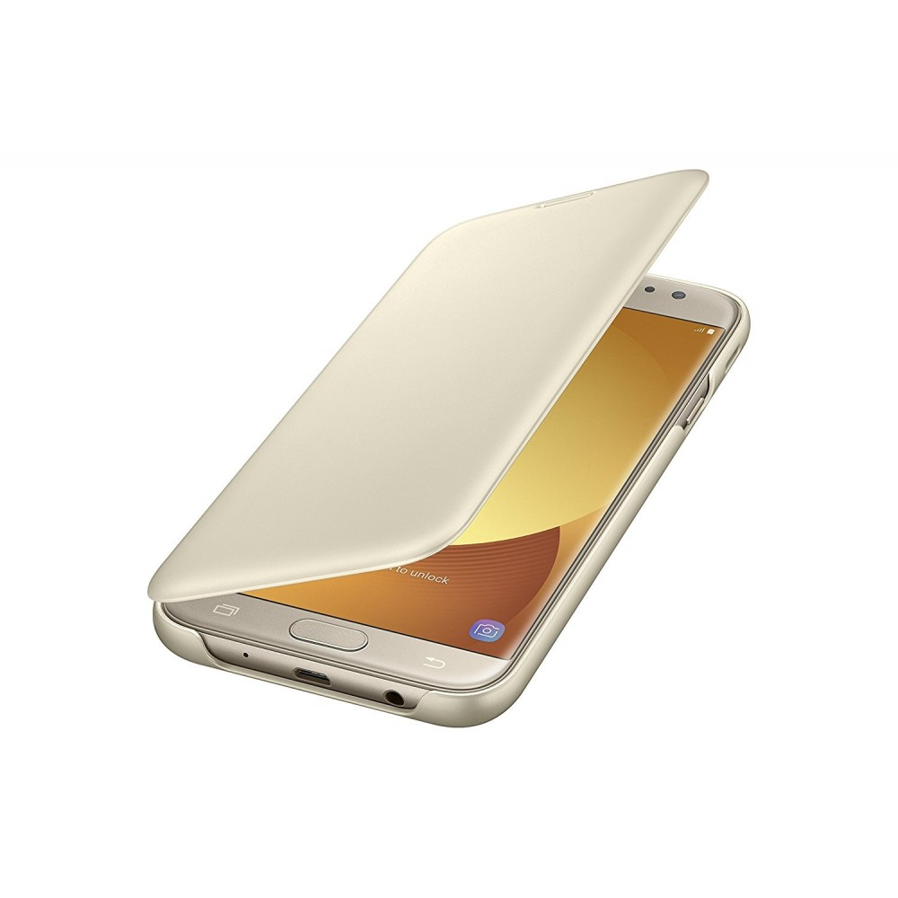 Etui Galaxy J7 (2017) Doré Wallet Cover - Samsung