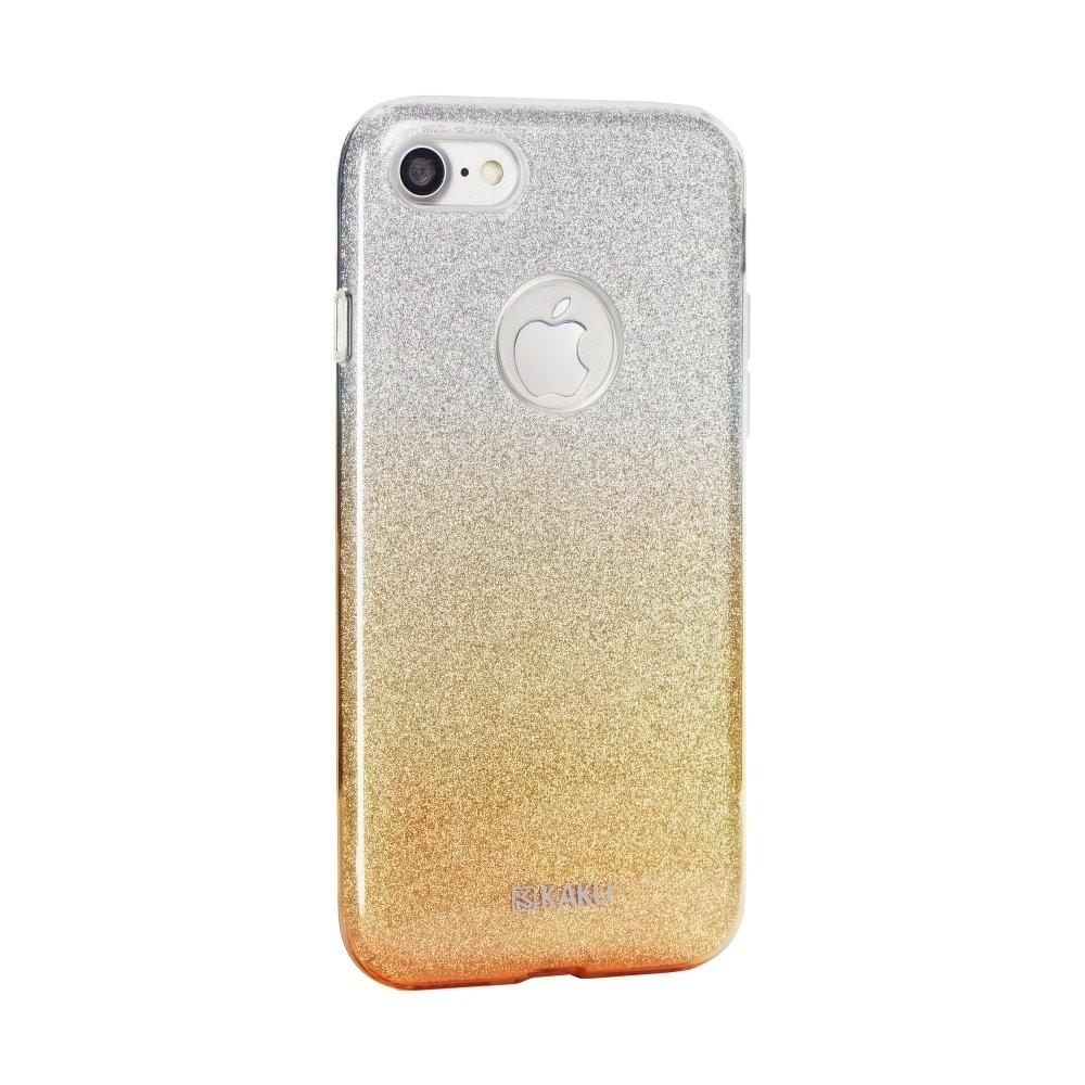 Coque iPhone SE / 5 / 5s à paillettes dorées et argentées - Kaku