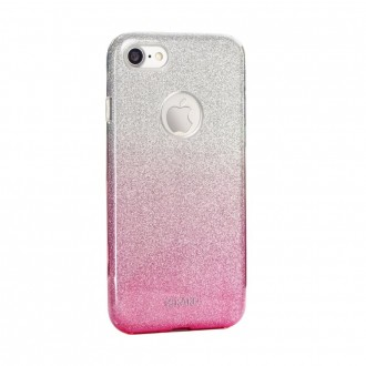 Coque iPhone SE / 5S / 5 à paillettes roses et argentées - Kaku