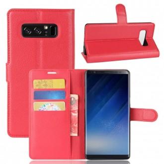 Etui Galaxy Note 8 porte cartes Rouge - Crazy Kase