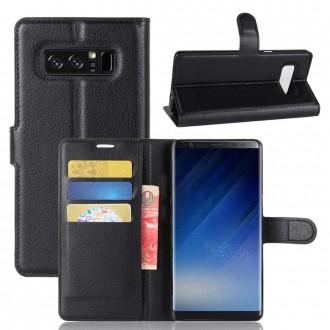 Etui Galaxy Note 8 porte cartes Noir - Crazy Kase