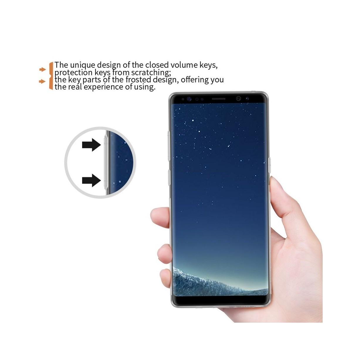 Coque Galaxy Note 8 Transparente en plastique souple - Nillkin