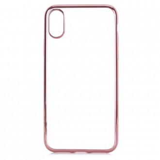 Coque iPhone X Transparente contour Rose - G-Case