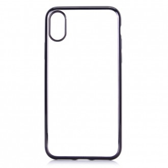 Coque iPhone X Transparente contour Noir - G-Case
