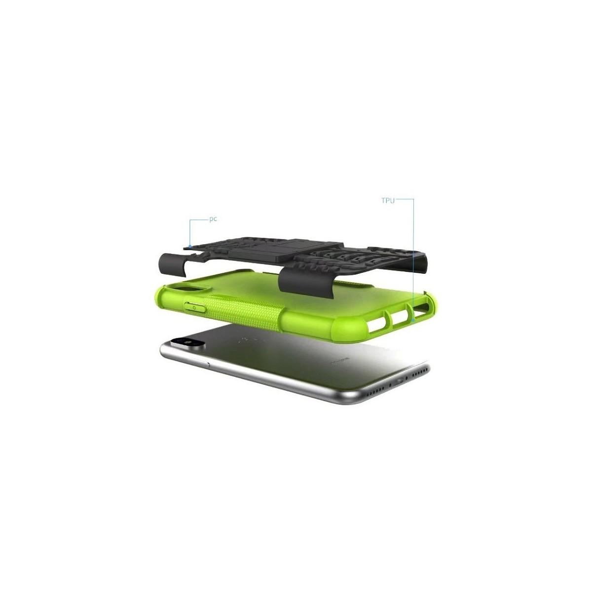 Coque iPhone X Anti-choc et Bi-matière Noire - Crazy Kase