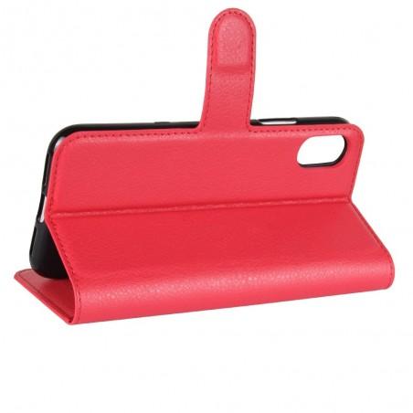 Etui iPhone X Porte cartes Rouge - Crazy Kase