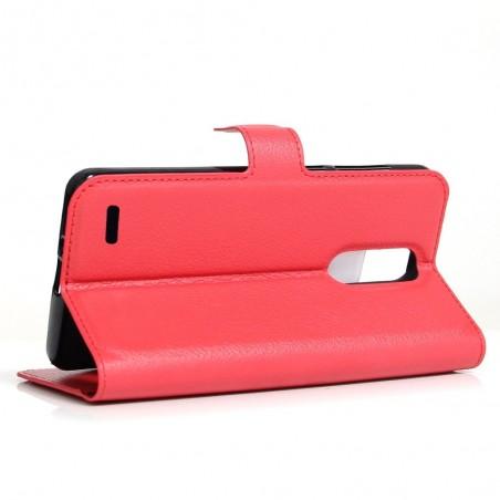 Etui LG K10 (2017) grainé rouge - Crazy Kase