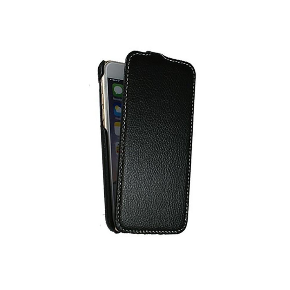 Etui UltraSlim en simili cuir noir pour iPhone 6