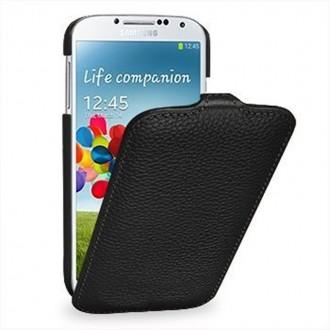 Etui Samsung Galaxy S4 UltraSlim noir en cuir véritable - Stilgut