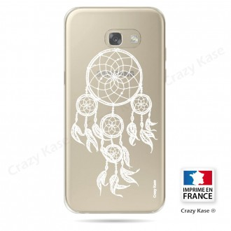 Coque Galaxy A3 (2017) Transparente et souple motif Attrape Rêves Blanc - Crazy Kase