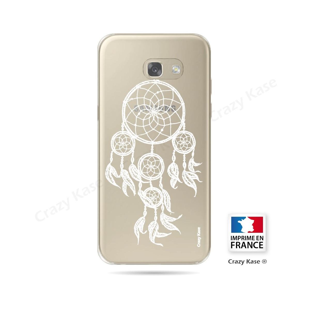 Coque Galaxy A3 (2017) Transparente et souple motif Attrape Rêves Blanc - Crazy Kase