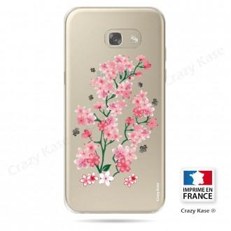 Coque Galaxy A3 (2017) Transparente et souple motif Fleurs de Sakura - Crazy Kase