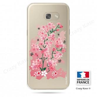Coque Galaxy A3 (2017) Transparente et souple motif Fleurs de Cerisier - Crazy Kase