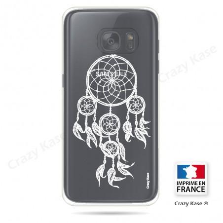 Coque Galaxy S7 Edge Transparente et souple motif Attrape Rêves Blanc - Crazy Kase